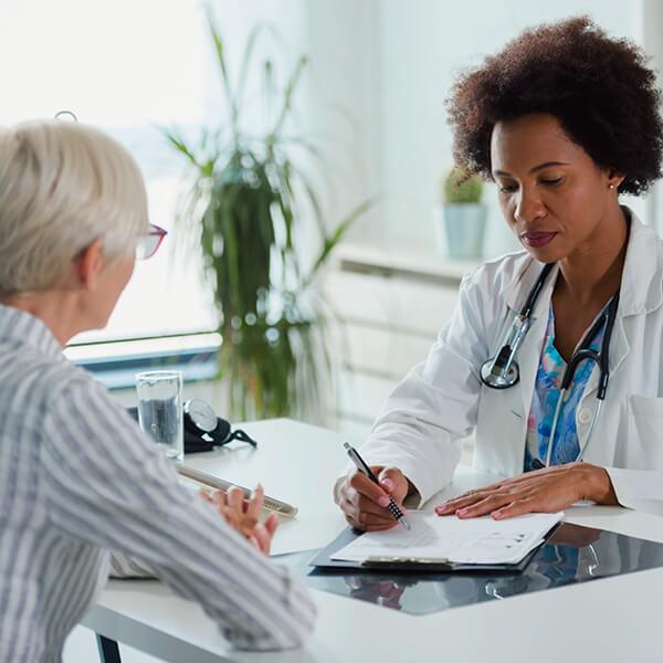 Doctor explaining procedure to patient